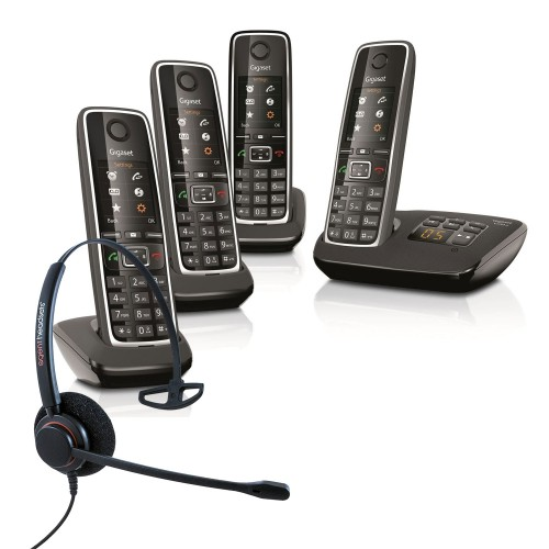 Siemens Gigaset C530A Quad Cordless Phones with Corded Headset