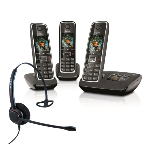 Siemens Gigaset C530A Trio Cordless Phones with Corded Headset