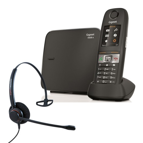 Siemens Gigaset E630A Robust DECT Cordless Phone with Corded Headset