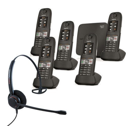 Siemens Gigaset E630A Quint Cordless Phones with Corded Headset