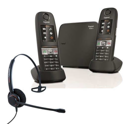 Siemens Gigaset E630A Twin Cordless Phones with Corded Headset