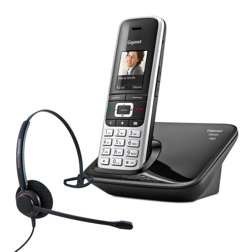Siemens Gigaset S850A Cordless Phone with Corded Headset