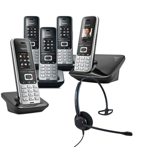 Siemens Gigaset S850A Quint Cordless Phones with Corded Headset