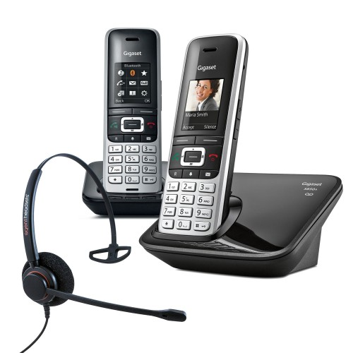 Siemens Gigaset S850A Twin Cordless Phones with Corded Headset