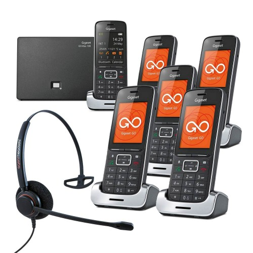 Siemens Gigaset SL450A GO Sextet VoIP Cordless Phones with Corded Headset