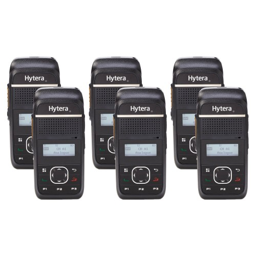Hytera PD355LF Six Pack License-Free Two Way Radios
