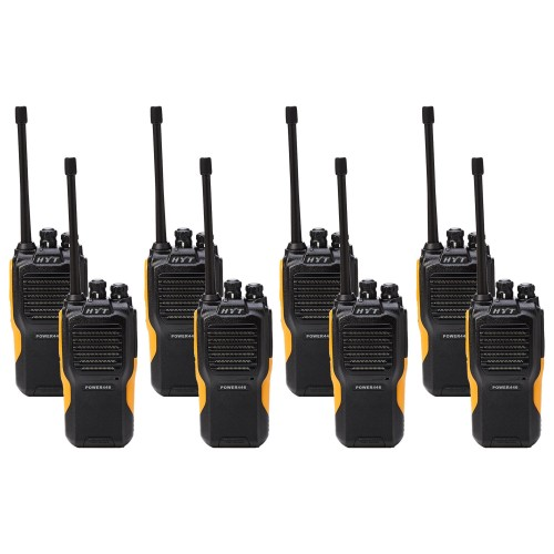Hytera Power446 Eight Pack License-Free Two Way Radios
