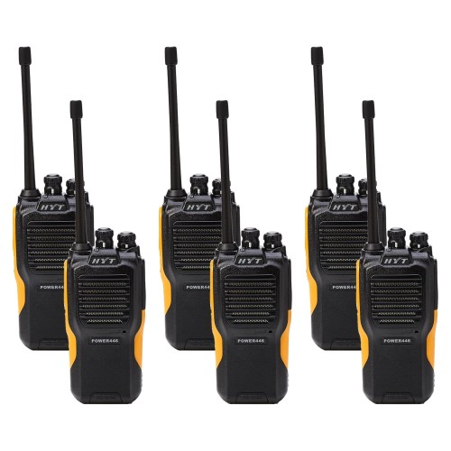 Hytera Power446 Six Pack License-Free Two Way Radios