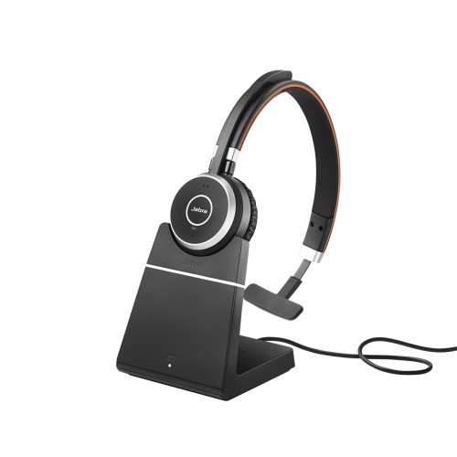 Jabra EVOLVE 65 MS Mono Wireless Headset with Charging Stand