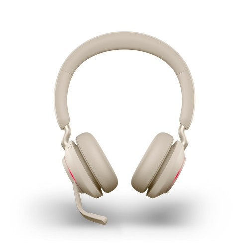 Jabra Evolve2 65 USB-A MS Stereo Wireless Headset in Beige with Jabra Link380