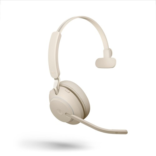 Jabra Evolve2 65 USB-C MS Mono Wireless Headset in Beige with Jabra Link380