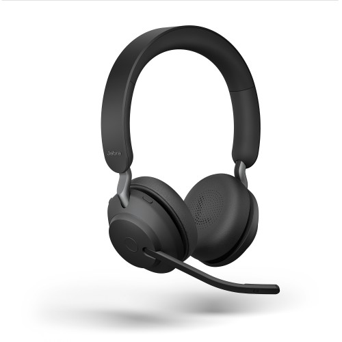 Jabra Evolve2 65 USB-C UC Stereo Wireless Headset in Black with Jabra Link380