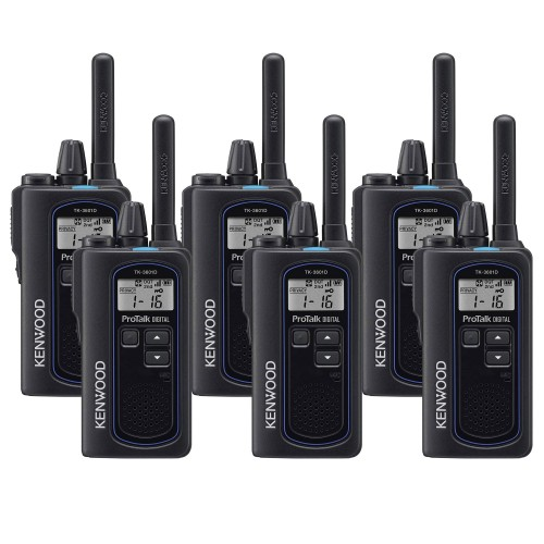 Kenwood TK-3601DE Six Pack Digital & Analogue Two-Way Radios