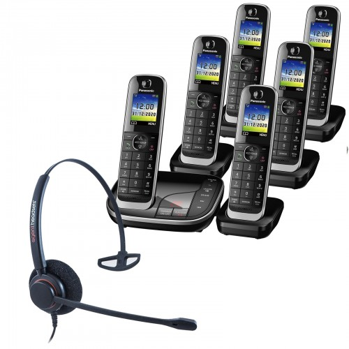 Panasonic KX-TGJ326EB Sextet Cordless Phones with Corded Headset
