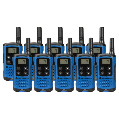 Motorola TLKR T41 Ten Pack Two-Way Radios in Blue