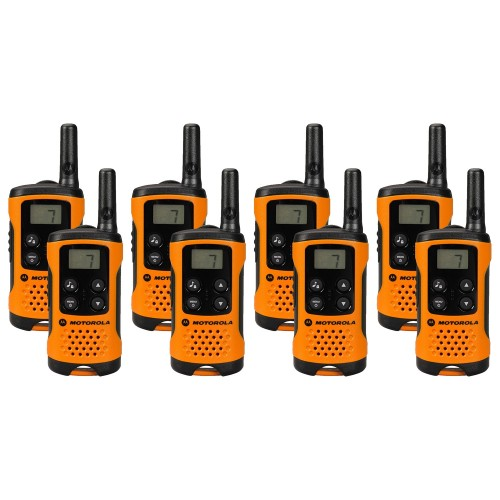 Motorola TLKR T41 Eight Pack Two-Way Radios in Orange