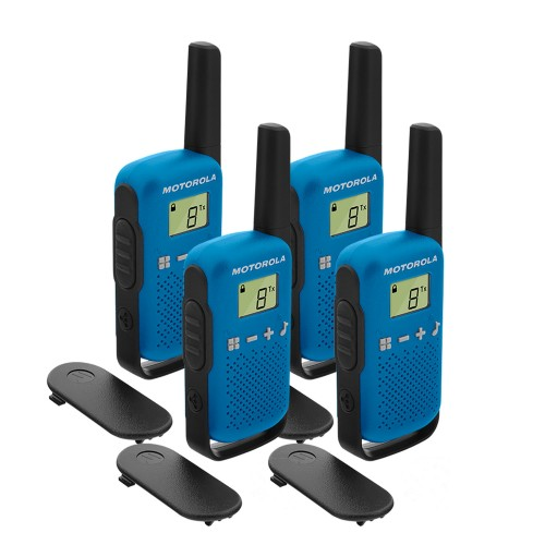 Motorola TALKABOUT T42 Quad Pack Two-Way Radios in Blue