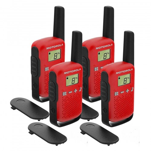Motorola TALKABOUT T42 Quad Pack Two-Way Radios in Red