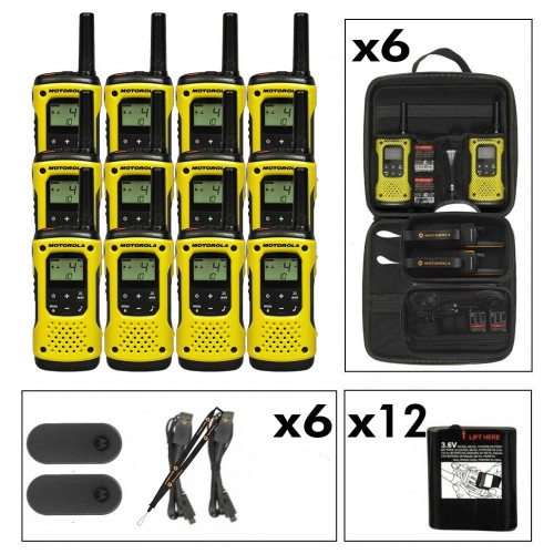 Motorola TLKR T92 Twelve Pack License-Free Two Way Radios