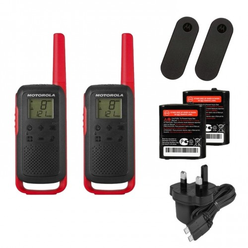 Motorola TALKABOUT T62 Twin Pack Two Way Radios in Red