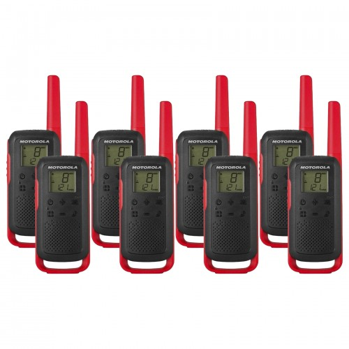 Motorola TALKABOUT T62 Eight Pack Two Way Radios in Red