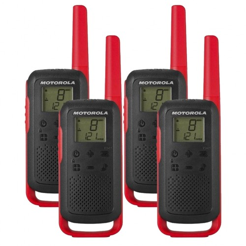 Motorola TALKABOUT T62 Quad Pack Two Way Radios in Red