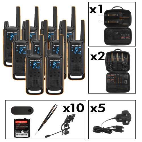 Motorola TALKABOUT T82 Extreme Ten Pack Two-Way Radios