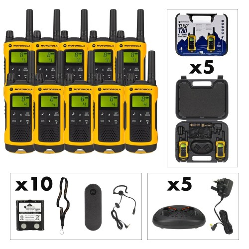 Motorola TLKR T80 Extreme Ten Pack Two-Way Radios