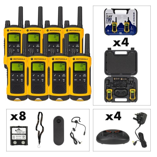 Motorola TLKR T80 Extreme Eight Pack Two-Way Radios