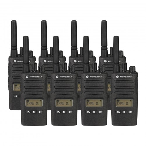 Motorola XT460 Eight Pack Two-Way Radios with Charger