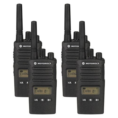 Motorola XT460 Quad Pack Two-Way Radios with Charger