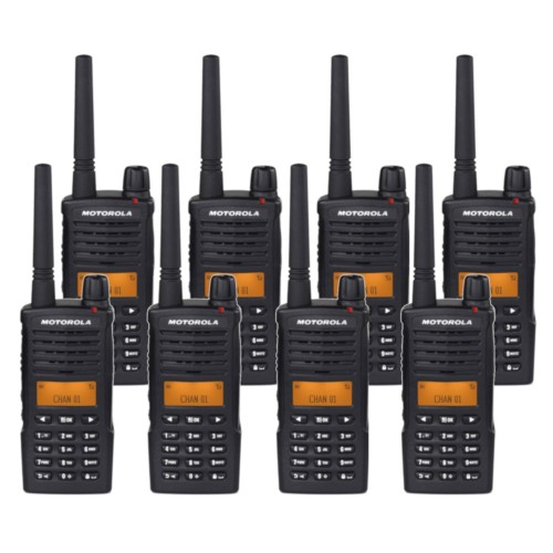 Motorola XT660 Eight Pack Digital Two Way Radio with Charger