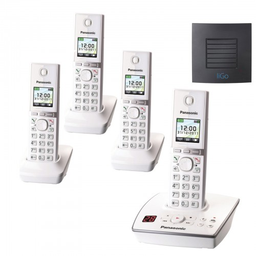 Panasonic KX-TG8064EW Quad with Long Range