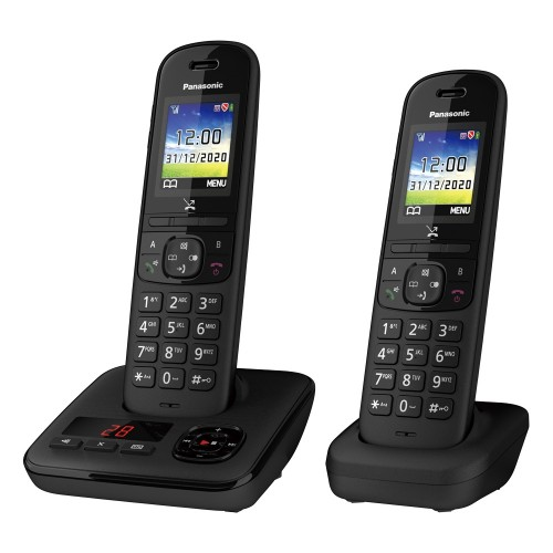 Panasonic KX-TGH722EB Digital Cordless Telephone with Automated Call Block and Answering Machine