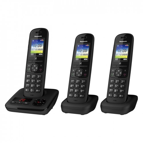 Panasonic KX-TGH723EB Digital Cordless Telephone with Automated Call Block and Answering Machine