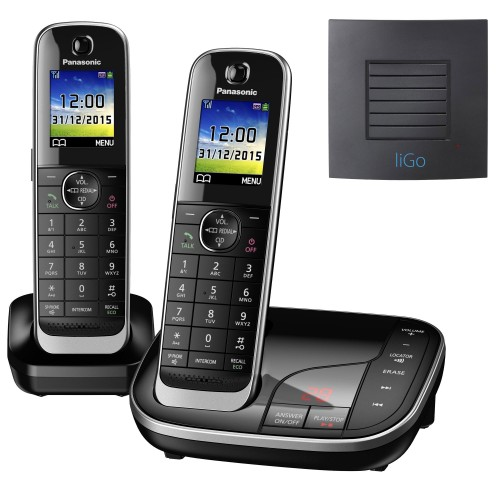 Panasonic KX-TGJ322EB Twin Long Range Cordless Phone
