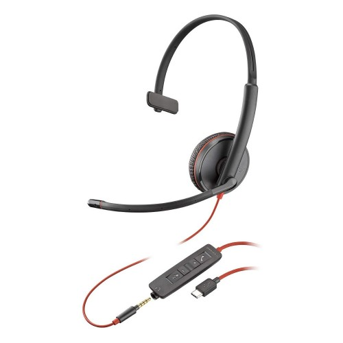 Plantronics Blackwire 3215 USB-C Mono UC Corded Headset with 3.5mm Connection