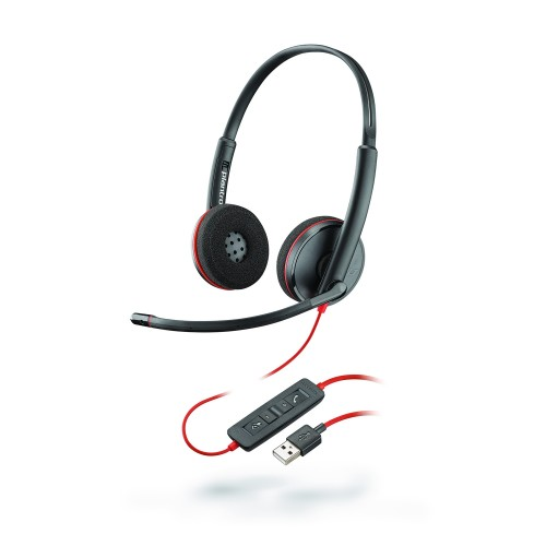 Plantronics Blackwire 3220 USB-A Stereo UC Corded Headset