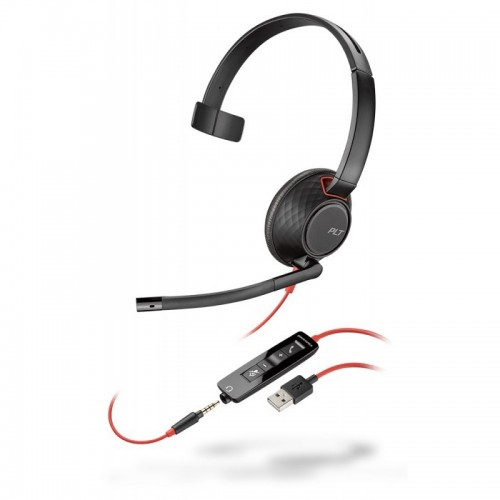 Plantronics Blackwire 5210 USB-A Mono Corded Headset with 3.5mm Connection