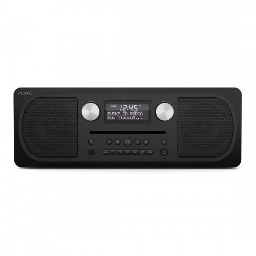 PURE Evoke C-D6 All-In-One Music System with DAB, FM, and CD Player in Black