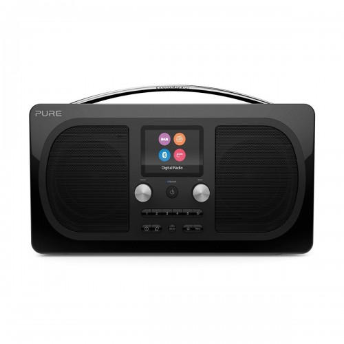 Pure Evoke H6 DAB/DAB+/FM Stereo Bluetooth Radio - Prestige Edition in Black