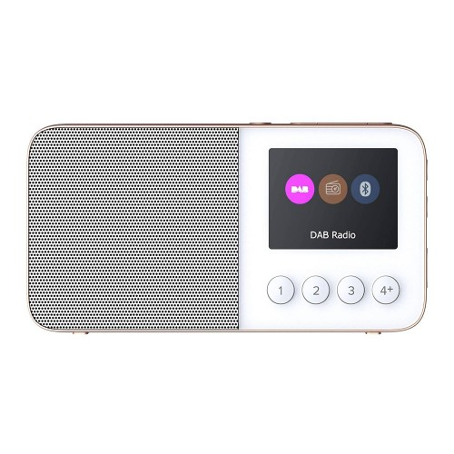 Pure Move T4 Portable DAB Radio & Bluetooth Speaker in White