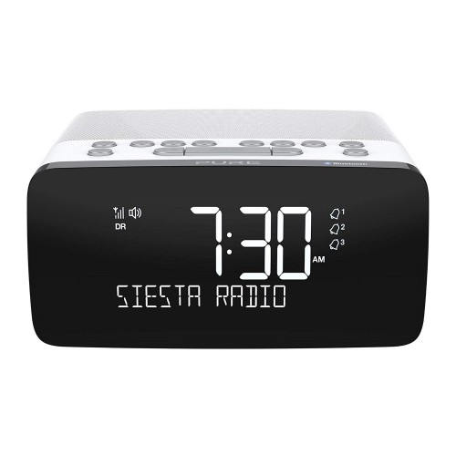 Pure Siesta Charge DAB/DAB+/FM Bluetooth Clock Radio with Wireless Charging Pad in Polar