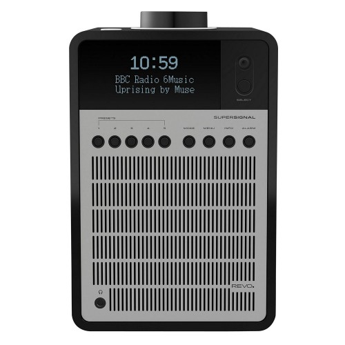 Revo SuperSignal DAB Radio with Bluetooth in Matt Black/Silver