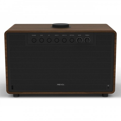 Revo SuperTone Wireless Bluetooth Speaker in Black/Walnut