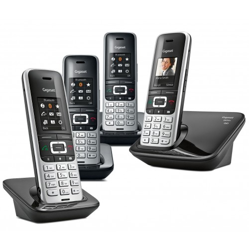 Siemens Gigaset Premium S850A Cordless Phone, Quad Handset with Answer Machine