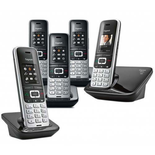 Siemens Gigaset Premium S850A Cordless Phone, Five Handsets with Answer Machine