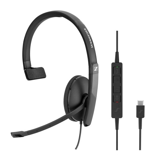 Sennheiser SC130 USB-C Mono Corded Headset for PC & Mobile