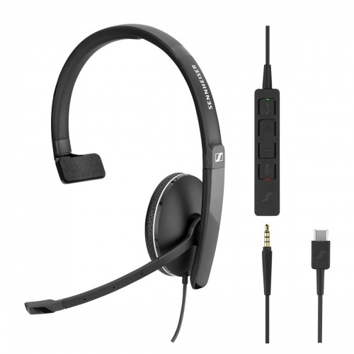 Sennheiser SC 135 USB-C & 3.5mm Mono Corded Headset for PC & Mobile