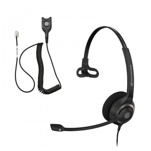 Sennheiser SC 230 QD Corded Headset with IP Bottom Cable